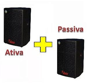 Kit Caixa Ativa E Passiva Leacs Pulps 550 Com 400w
