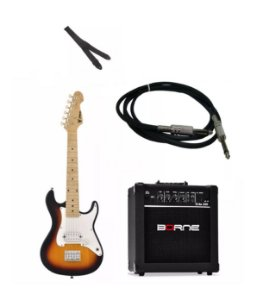Kit Guitarra Infantil Phx Sunburst Cubo G30 + Cabo 3m + Alça