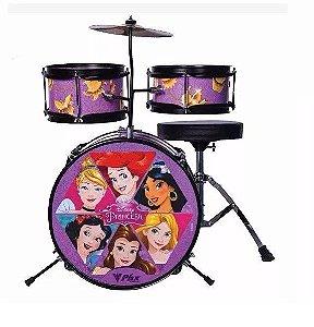 Bateria Infantil 14'' Phoenix Disney Princesas Gold Rosa Bid-p2