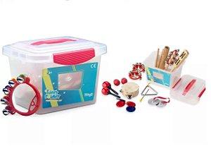 Kit Para Musicalização Percussão Infantil Stagg C/ Caixa