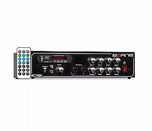 Amplificador Som Ambiente Seletor Receiver Borne Rc7000 80w