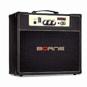 Amplificado Guitarra Borne Valvulado Clássico T7 Preto