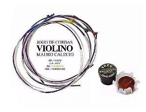 Encordoamento Mauro Calixto Para Violino Com Breu Paganini