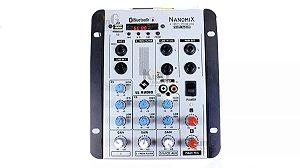 Mesa De Som Nanomix Ll Audio Na302r 2 Canais Eq 3 Vias