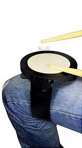 Kit Pad Leg Para Estudo De Perna Batedor Bateria Com Baqueta