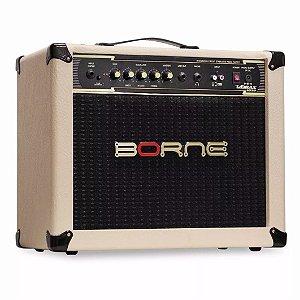 Amplificador Para Guitarra Borne Vorax 1050 50w Rms Creme