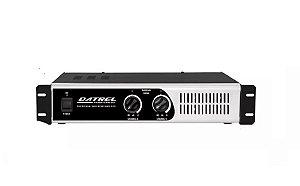 "Amplificador De Potencia Profissional 600w Rms Total Datrel OHMS P/4 AF 12"" 150 WATTS"