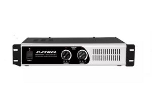 "Amplificador De Potencia Profissional 800w Rms Total Datrel 4 OHMS P/4 AF 12"" 200 WATTS PA8000"
