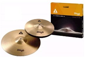 Kit Pratos De Bateria Stagg Axa 13 Hi-hat E Crash 16