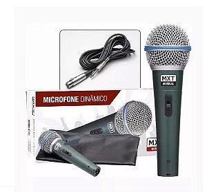 Microfone Com Fio Para Oratório Karaokê Mxt Dinâmico Btm58a