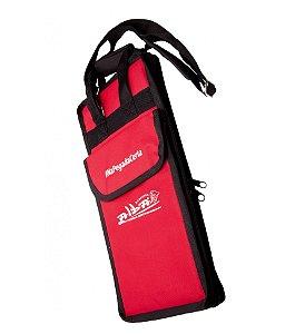 Bag Para Bateria Luxo Alba Com Alça Estofado Vermelho