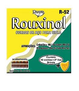 Encordoamento Para Viola Rouxinol Aço R52 Brinde Palheta