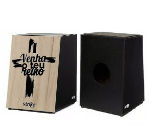 Cajon Acústico Inclinado FSA Strike SK4038 Cruz Gospel