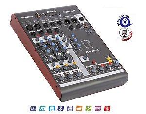 Mesa de Som 4 Canais MX402 LL Audio Bluetooth Gravador
