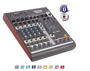 Mesa De Som 4 Canais Mx602 Ll Audio Bluetooth Gravador