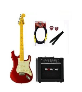 Kit Guitarra Tagima TG530 Vermelho MR + Cabo P10 + Brindes