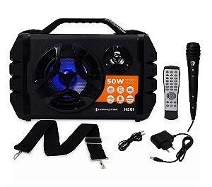 Caixa Multiuso Portátil Hayonik 50w Bluetooth Rádio Fm Usb