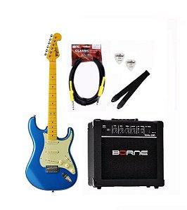 Kit Guitarra Tagima Tg530 Azul LB + Cabo P10 + Brindes