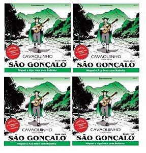 Kit Atacado 4 Encordoamento Cavaco São Gonçalo C/ Bolinha
