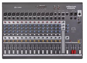 Mesa de Som 16 Canais Mixer Millenium Phantom Power LL Audio