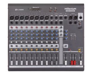Mesa de Som 12 Canais Mixer Millenium Phantom Power MX1202