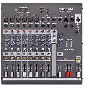 Mesa de Som 10 Canais Mixer Millenium Phantom LL Audio USB