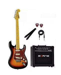 Kit Guitarra Tagima TG530 Sunburst SB + Caixa G30 + Cabo
