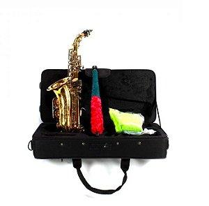 Saxofone Sax Soprano Curvo Jahnke Bb Laqueado Jssch001-lq/nq