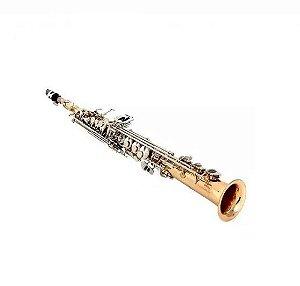 Saxofone Soprano Reto Bb Jahnke Com Estojo Jssh001-lq/nq