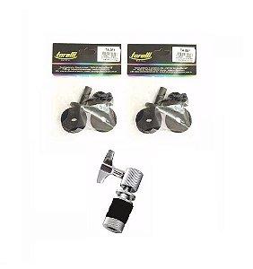 Kit Presilha de Chimbal Universal Torelli TA017 e 2 Feltros