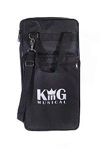 Bag Porta Baquetas Luxo Estojo Alça Semi Case Baterista BK