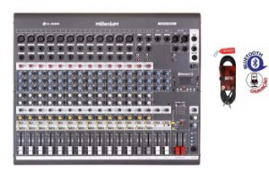 Mesa De Som 16 Canais M1602md Mixer Phantom LL + Cabo 4MTS