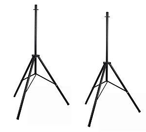 Tripé Pedestal Para Caixa Acústica Ativa Par Alumínio Preto