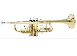 Trompete C (Dó) Schieffer Laqueado Sopro SCHTP-005