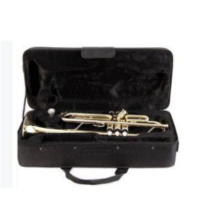 Trompete Sib Laqueado Schieffer SCHTP001 Case Luxo Proteção