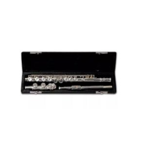 Flauta Transversal Soprano Prateada Schieffer SCHF001 Niquel