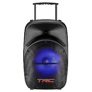 Caixa Multiuso Amplificada 100W TRC328BT Portátil USB FM
