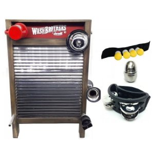 Kit Washboard Torelli Aço Inox TWB39 Ovinho Pandeirola Shake