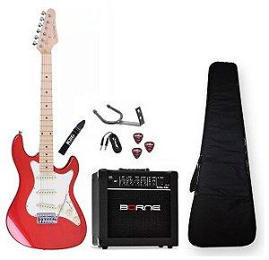 Kit Guitarra Strinberg Sts100 Caixa 15 Cabo Correia Capa MWR