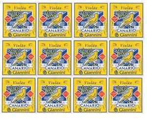 Encordamento Corda Violão Nylon 12 Unidades Canário Giannini