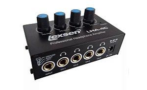 Amplificador  Fone de Ouvido Portatil Lexsen LHA4C 4 Canais