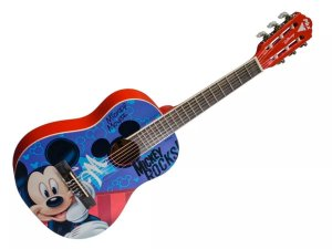 Violão infantil 1/2 Disney Mickey Mouse Rocks Vid-MR1