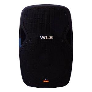 Caixa Acústica Ativa WLS S15 Bluetooth FM USB SD Card 250w