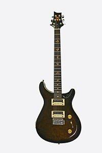 Guitarra Phx Preta Profissional PR-BKS Preto Captador Duplo