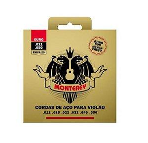 Encordoamento Jogo Monterey Solez Violão 011 Ouro