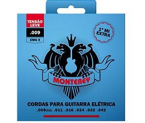 Encordoamento Jogo Monterey Solez Guitarra 09 Mi Extra EMG09