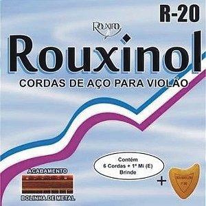 Encordoamento Jogo De Corda Rouxinol Violão Aço R20