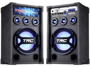 Caixa de Som Amplificada TRC 369 400W Bluetooth Microfone