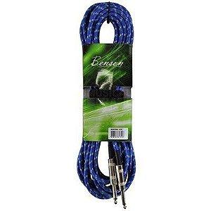 Cabo P10 para Guitarra Violão Benson GC059 3M Azul