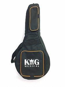 Capa Para Banjo King Musical Extra Luxo Preta